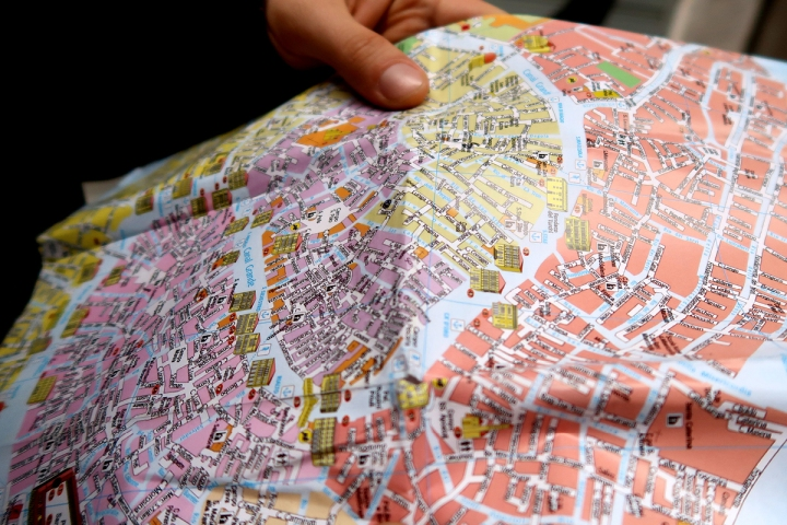 venice travel blog map