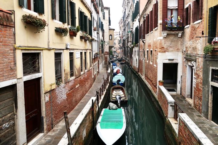venice canal boats