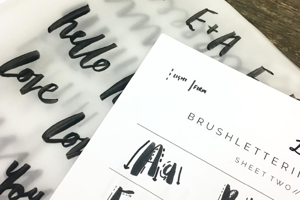 brush lettering workshop one girl band brighton