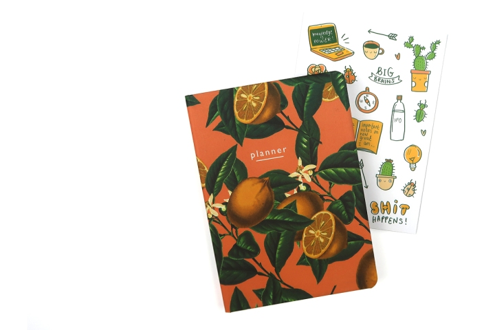 papergang arden rose may planner lemons