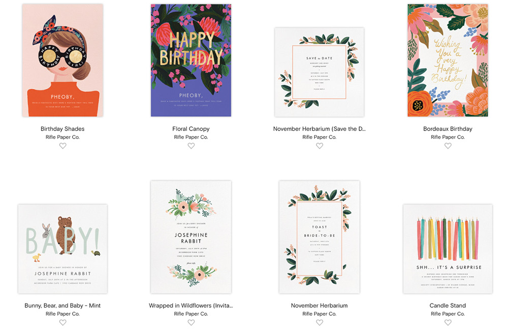 paperless post rifle paper designs review