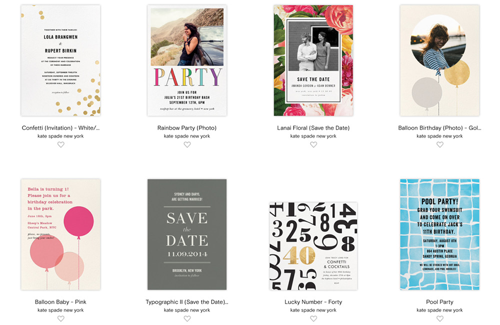 paperless post kate spade designs review